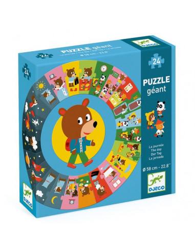 Puzzle géant la journée - Djeco