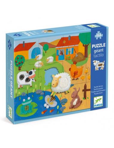 Puzzle géant Tactiloferme - Djeco