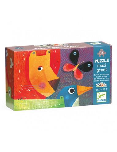 Puzzle géant la parade des animaux -...