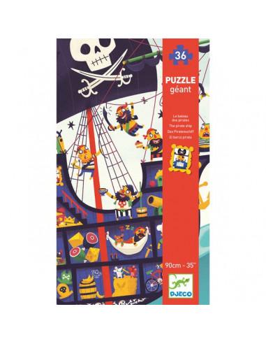 Puzzle géant le bateau des pirates -...