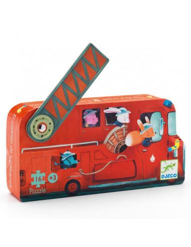 Le camion de pompier puzzle 16 pièces...