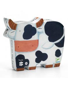 Puzzle les vaches à la ferme