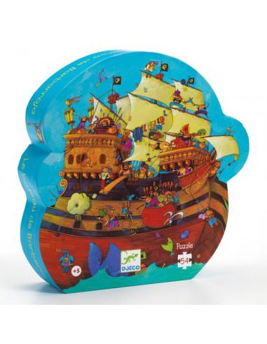 Puzzle bateau de pirate barberousse -...