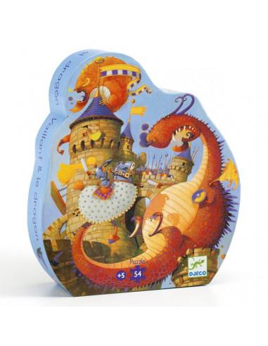 Puzzle Vaillant et les dragons - Djeco