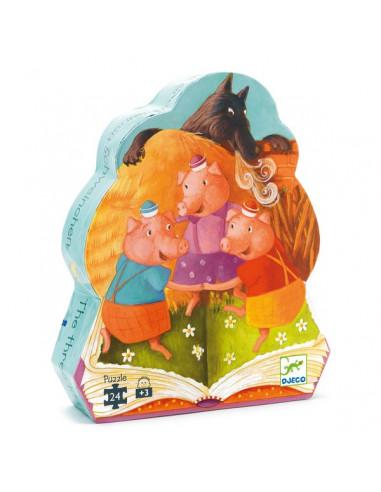 Puzzle les 3 petits cochons - Djeco