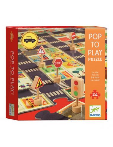 Puzzle géant la ville - Djeco