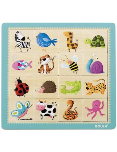 Puzzle motifs 16 pièces - Goula