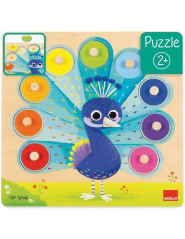 Puzzle paon 9 pièces - Goula