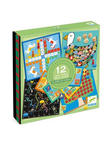 Classic box boîte de 12 jeux - Djeco