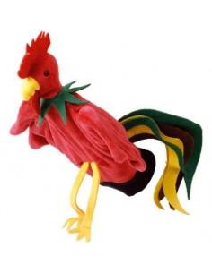 Peluche gant marionnette coq