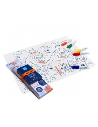 Set à colorier silicone Surf party -...