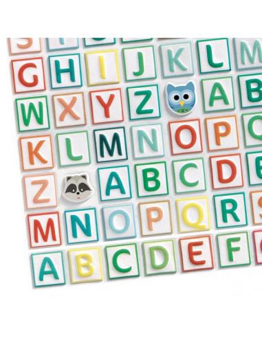 Gommettes en volume alphabet - Djeco