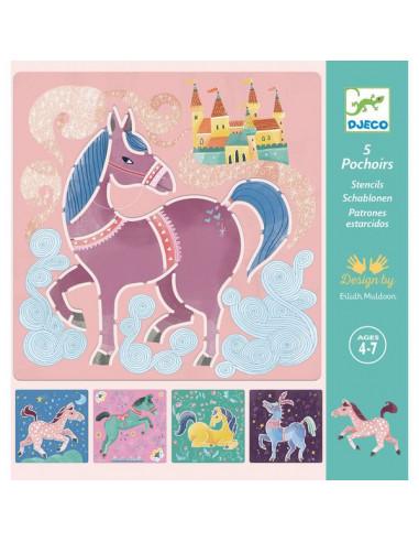 Pochoirs chevaux - Djeco