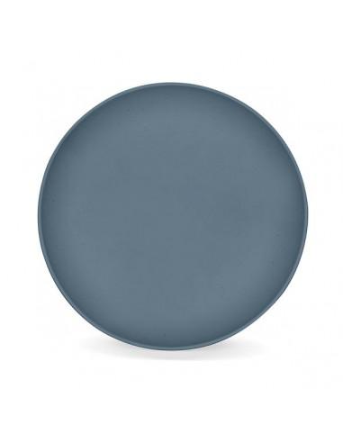 Assiette plate végétale bleu madura