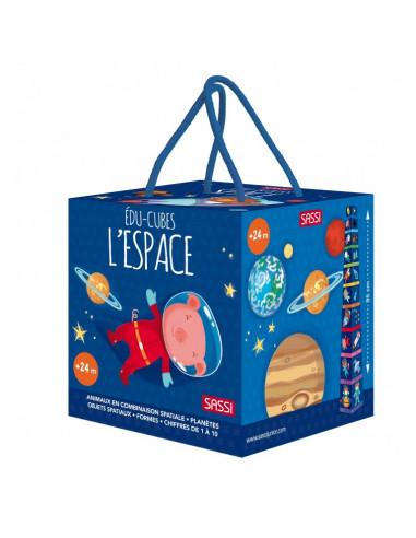 Cubes et livre en carton l'espace -...