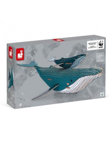 Puzzle baleine 3D à assembler WWF -...