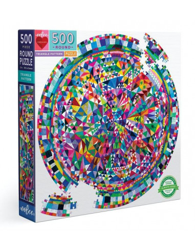 Puzzle rond triangle pattern 500...
