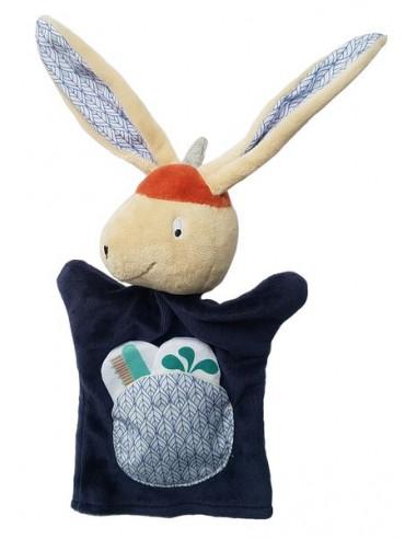 Marionnette Gabin lapin - Ebulobo