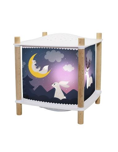 Veilleuse lanterne magique forêt -...