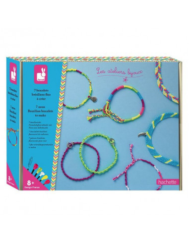 Bracelets brésiliens fluo à créer -...
