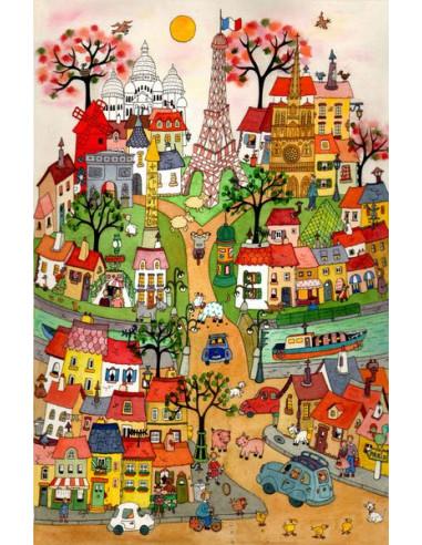 Puzzle en bois 370 pièces Paris village