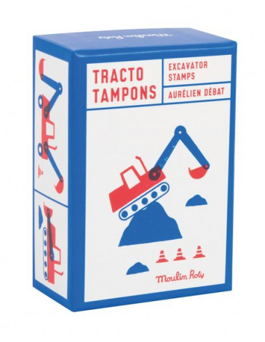 Coffret 9 tampons tractopelle Dans la...