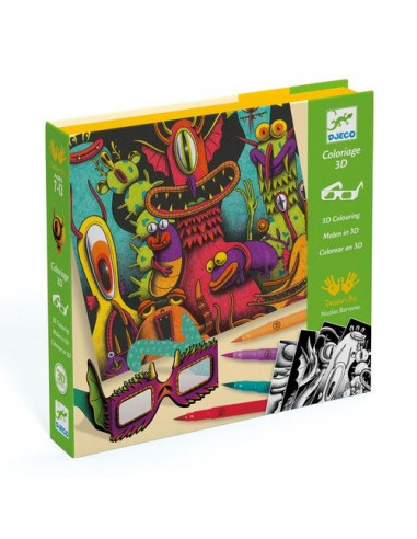 Coloriage 3D funny freaks - Djeco