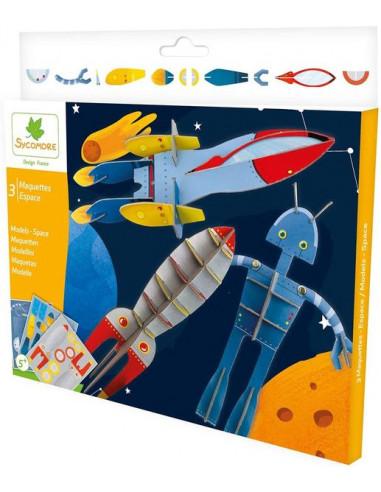 3 maquettes espace - Sycomore
