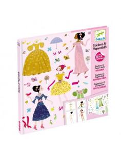 Robes des 4 saisons stickers paper doll