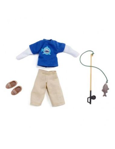 Vêtements de pêcheur pour poupée Lottie