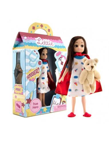 Poupée Lottie et son ours en peluche