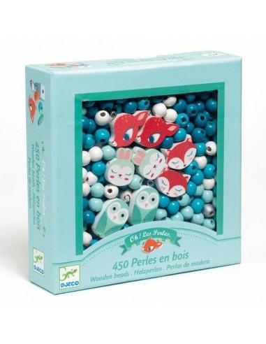 Perles en bois petits animaux - Djeco