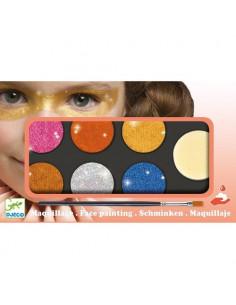 Maquillage palette 6 couleurs effet métal