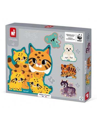 Puzzles évolutifs Animaux WWF - Janod