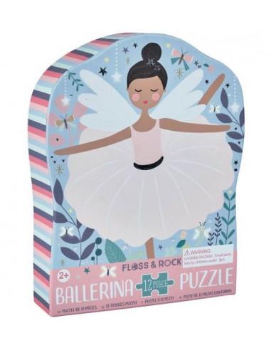Puzzle Ballerine 12 pièces - Floss &...