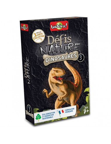 Défis nature dinosaures noir - Bioviva