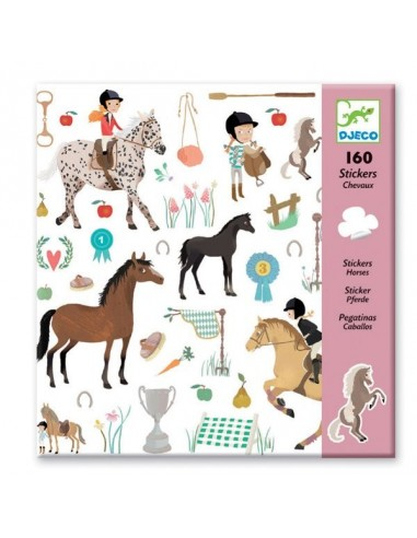Stickers Les chevaux - Djeco