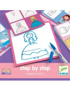 Apprendre à dessiner Step by step Joséphine and Co