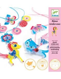 """Bijoux plastique magique """"chaton et poney"""""""