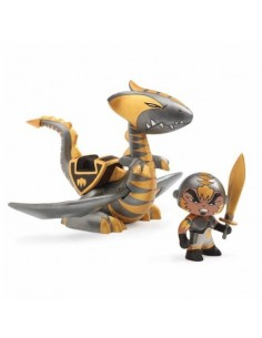 Figurine et dragon Chrome &...