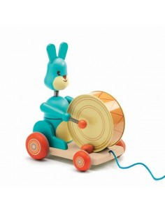 Jouet à tirer bunny Badaboum