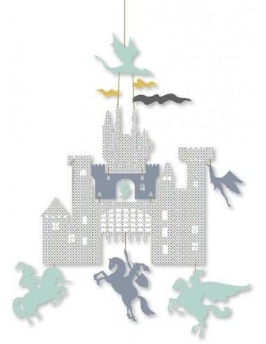 Mini mobile Château et dragons - Djeco