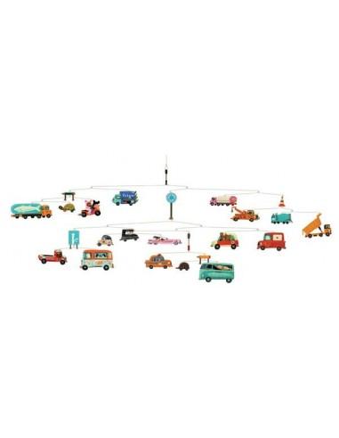 Mobile trafic véhicules - Djeco