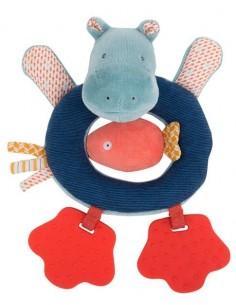 Hochet anneau hippopotame...