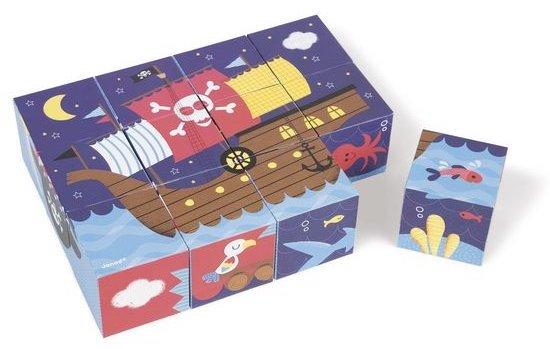 Puzzle de cubes en bois ou en carton