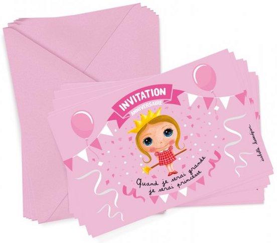 Carte d'invitation pour l'anniversaire d'une petite fille