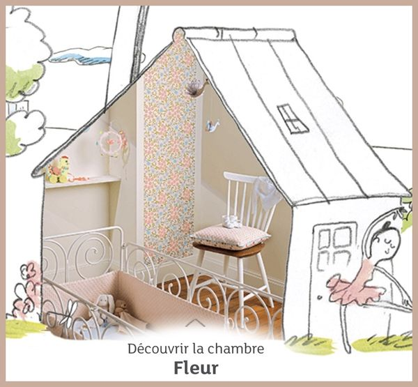 chambre fleur little big room djeco