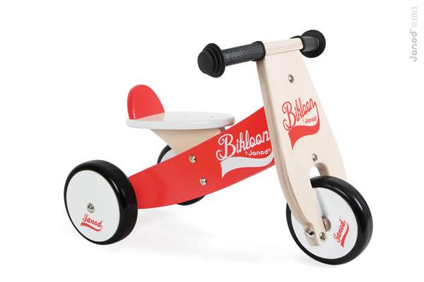 Porteur tricycle Bikloon rouge - Janod