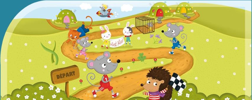 jeu la course farfelue des souris des champs