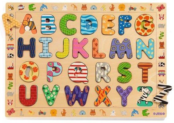 Puzzle à encastrer en bois Alphabet
